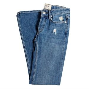Free People Relaxed Heritage Flare Jean Blue 25